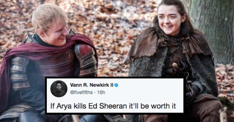 Game of Thrones arya stark Maisie Williams Ed Sheeran