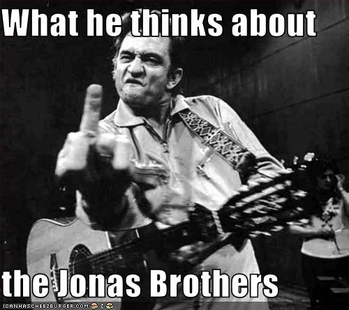 What he thinks about  the Jonas Brothers