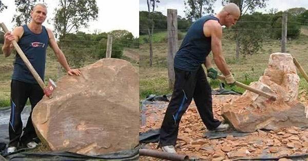 artista de piedra