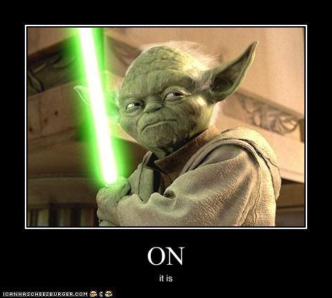 fighting,light saber,movies,sci fi,star wars,yoda