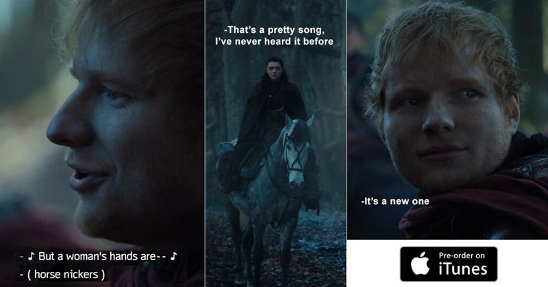 Collection of Game of Thrones reactions from Twitter and memes, Ed Sheeran as a lannister, Euron Greyjoy, Pilou Abaek, fashion, tyrion lannister, daenerys targaryen.