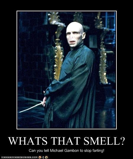 WHATS THAT SMELL? Can you tell Michael Gambon to stop farting!