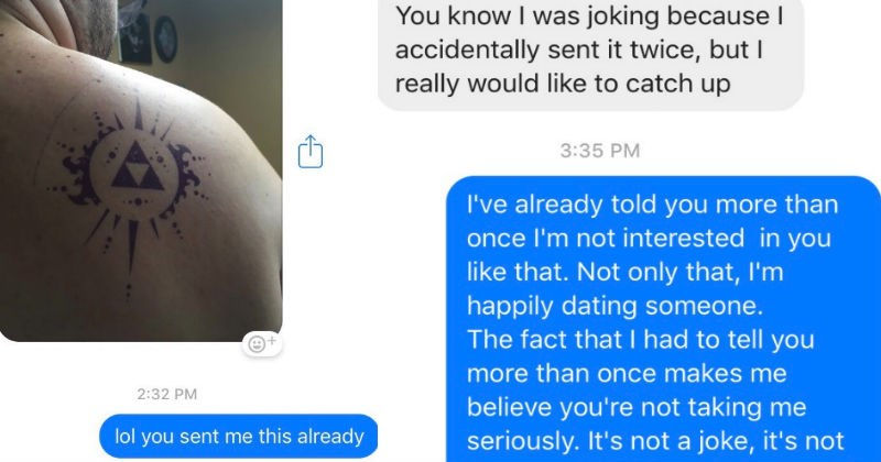 Guy gets friendzoned again during texting conversation and has a terrible cringe reaction to it.