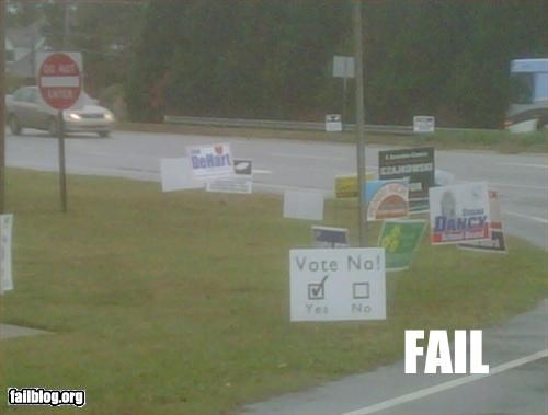 g rated signs voting yes or no - 2776341248