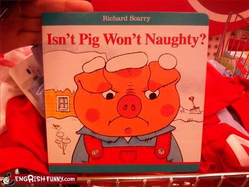 book children g rated kids naughty pig - 2776948736