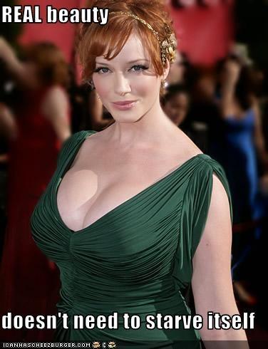 anorexia beautiful boobies chesticles Christina Hendricks eating disorders mad men - 2777696512