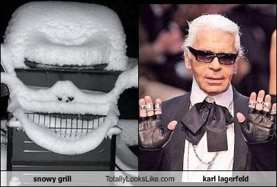 fashion german designer grill Karl Lagerfeld snow