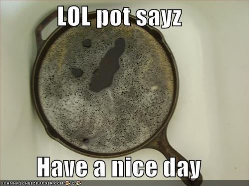 Lol Pot Sayz Have A Nice Day Cheezburger Funny Memes Funny