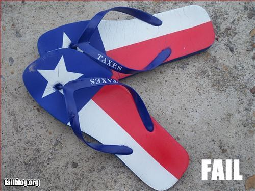flip flops g rated misspelling shoes taxes texas - 2782259712