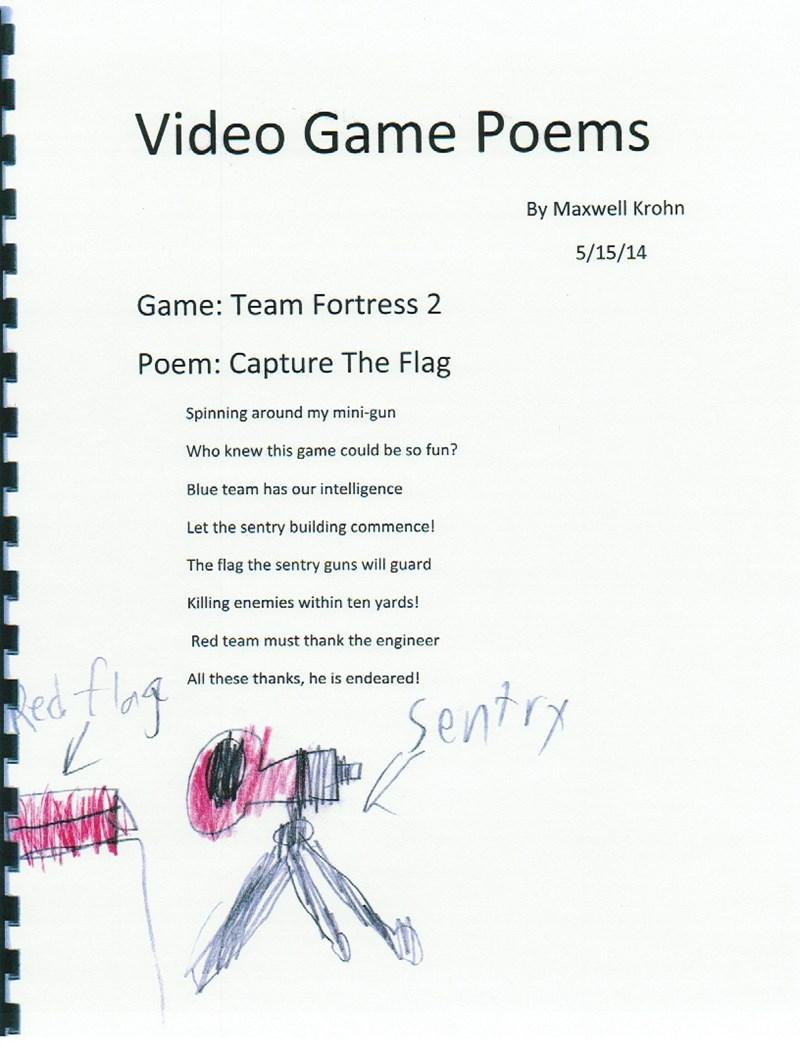 kids list homework video games poetry - 278277