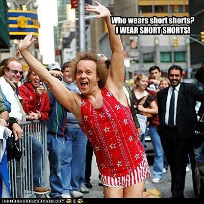 fitness richard simmons shorts tiny - 2783079936