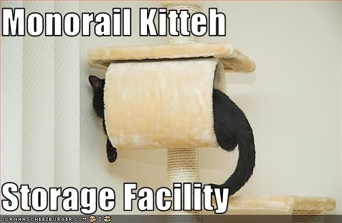 monorail cat scratching posts