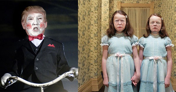 trump protagoniza peliculas terror
