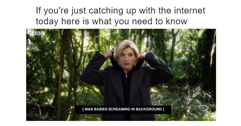 Collections of memes and tweets regarding the casting of a woman as the 13th doctor in the show Doctor Who.