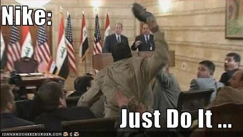 george w bush,iraq,muntadhar al-zaidi,Nuri al-Maliki,president,prime minister,Protest,Republicans,shoes