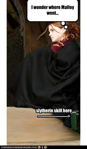 I wonder where Malfoy went... slytherin skill here ---------------------->