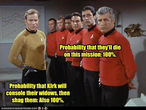 Captain Kirk red shirts sci fi Star Trek William Shatner - 2795966720