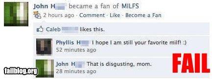 facebook,milf,mom,sons,status update