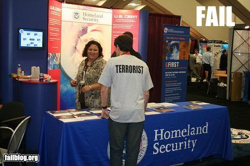career fair clothing g rated homeland security terrorist T.Shirt - 2797745920