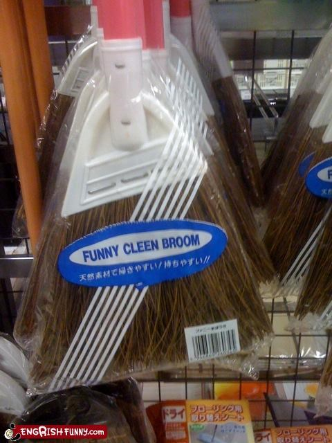 broom clean funny g rated packaging