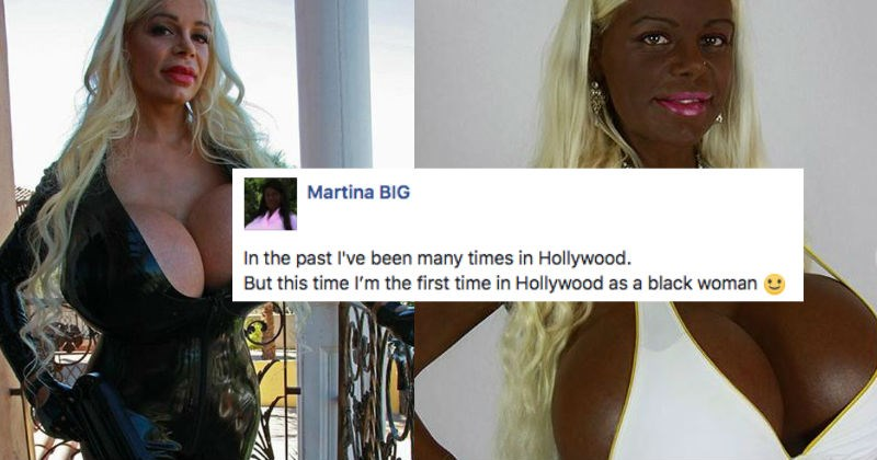 White woman that models claims she's successfully transformed into a black woman.