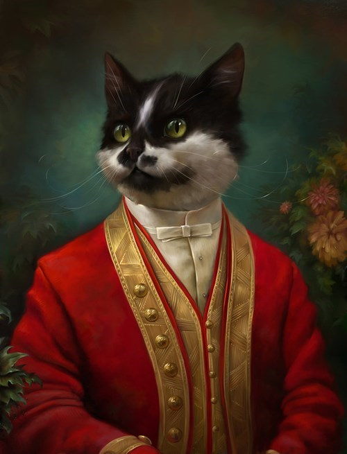 fancy cat paintings
