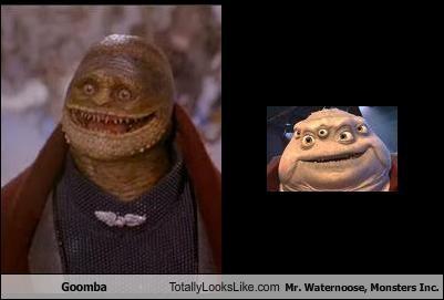 goomba totally looks like mr waternoose monsters inc