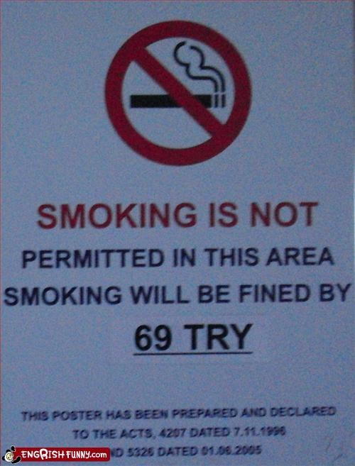69 airport fine no smoking sex signs - 2808050432