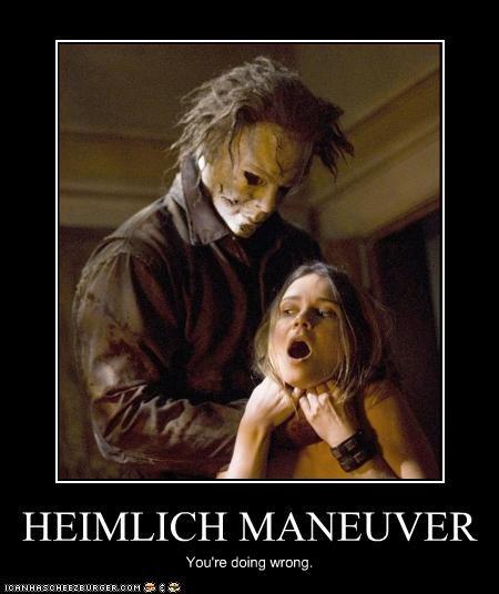 choke doing it wrong halloween horror michael myers movies - 2809030144