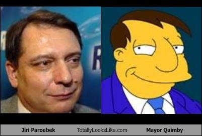 animation cartoons czech republic jiri paroubek mayor joe quimby politician the simpsons - 2809160704