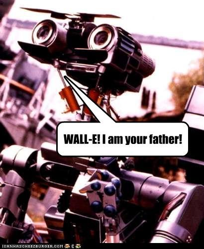 80s-movies dad fatherhood johnny 5 robots wall.e - 2810533632