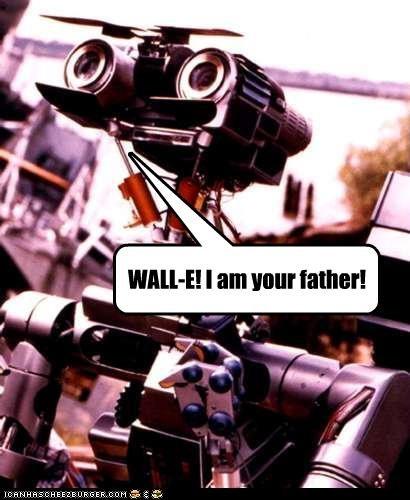 80s-movies dad fatherhood johnny 5 robots wall.e - 2810533632