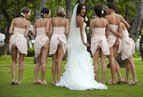 bridesmaid poorly dressed underwear wedding - 281349