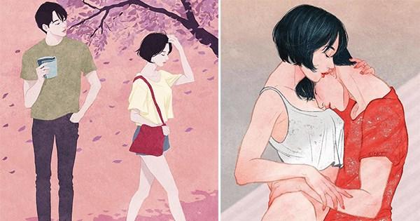 dibujando parejas corea