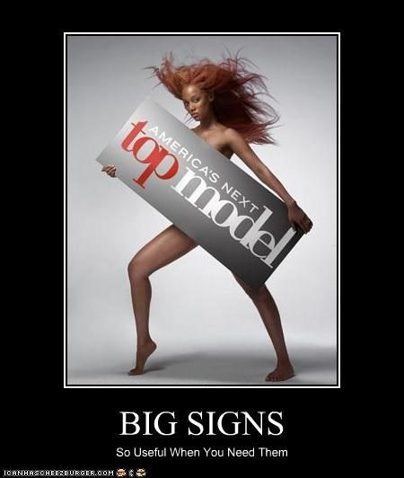 BIG SIGNS So Useful When You Need Them