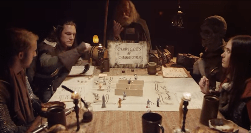 The Table(top)s Have Turned: Fantasy Characters Play Cubicles & Careers