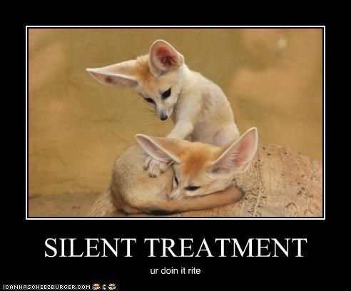 Image result for silent treatment funny