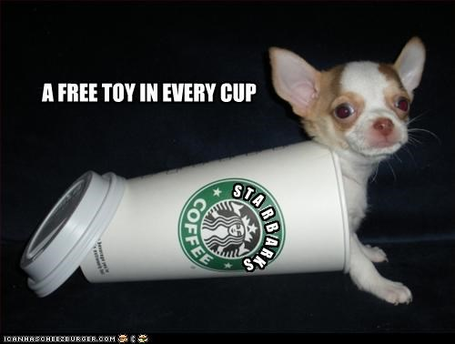 chihuahua cup free little puppy tiny toy - 2817823488