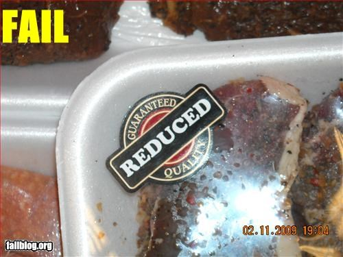food grocery store meat packaging quality reduced sticker - 2818362624