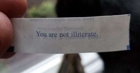 Collection of funny fortune cookie fortunes.