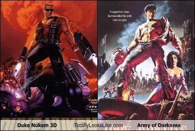 army of darkness,bruce campbell,covers,Duke Nukem,DVD,video games