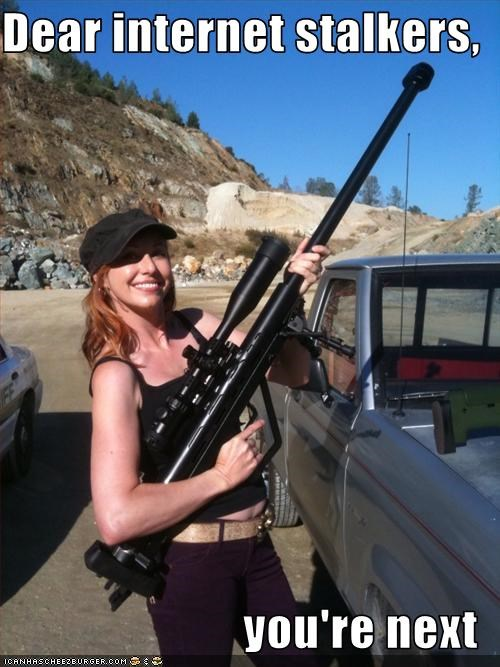 guns internet kari byron mythbusters stalkers - 2821239552