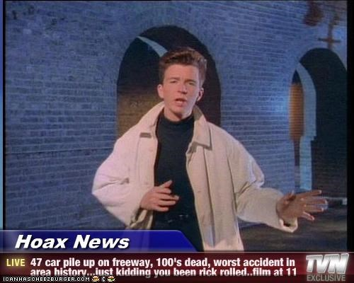 Hoax News - 47 car pile up on freeway, 100's dead, worst accident in