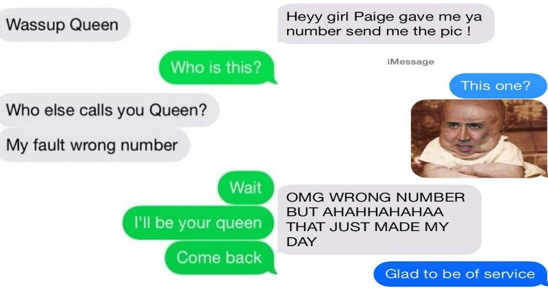 Collection of times people texted the wrong number and funniness ensued.