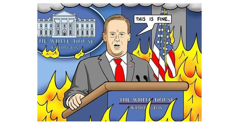 Funny collection of twitter reaction and memes regarding Sean Spicer's resignation.