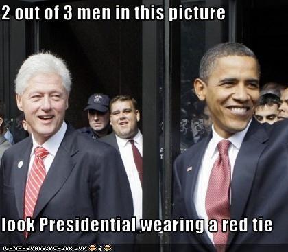 barack obama bill clinton democrats president tie - 2830840832