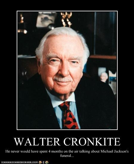 anchorman Historical journalist michael jackson walter cronkite - 2833530624