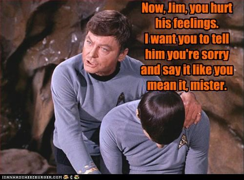 bones DeForest Kelley Leonard Nimoy sci fi sorry Spock Star Trek - 2834806016