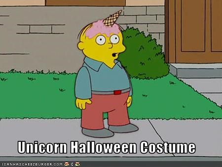 cartoons,costume,halloween,lolz,Ralph Wiggum,the simpsons,unicorn
