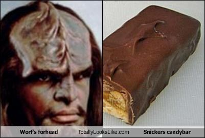 candy bars,snickers,Star Trek,Worf